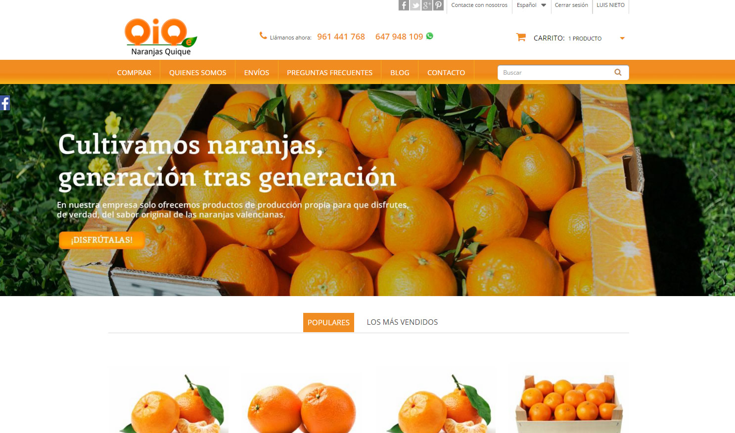 Naranjas Quique by Coolweb